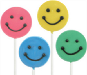 360 Smiley Shaped Lollipals